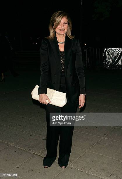 Arianna Huffington arrives at the 7th Annual Tribeca Film Festival Vanity Fair Party at the State Supreme Courthouse on April 22 2008 in New York...