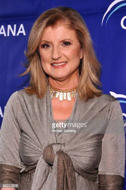 Arianna Huffington arrives for Oceana's 2009 Partners Award Gala on November 20 2009 in Los Angeles California Photo by Kristian Dowling/WireImage
