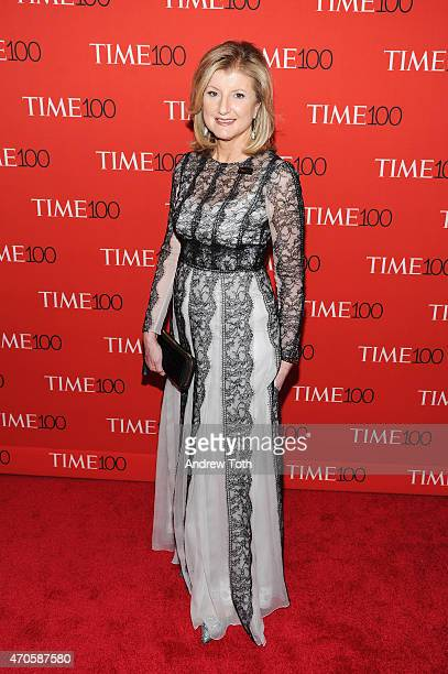Arianna Huffington attends the 2015 Time 100 Gala at Frederick P Rose Hall Jazz at Lincoln Center on April 21 2015 in New York City