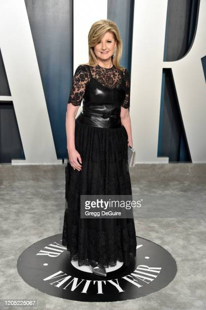 Arianna Huffington attends the 2020 Vanity Fair Oscar Party hosted by Radhika Jones at Wallis Annenberg Center for the Performing Arts on February 09...