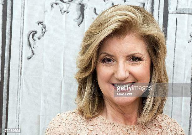 Arianna Huffington attends the AOL BUILD Speaker Series featuring Matthieu Ricard discussing his new book 'Altruism' at AOL Studios In New York on...