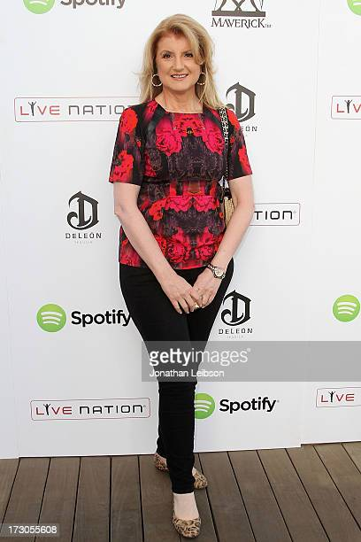 Arianna Huffington attends the Guy Oseary's July 4th event in Malibu presented by Spotify and Live Nation with DeLeon and VitaCoco at Nobu Malibu on...