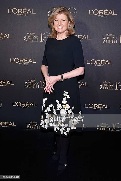 Arianna Huffington attends the L'Oreal Paris Women of Worth 2015 Celebration Inside at The Pierre Hotel on December 1 2015 in New York City