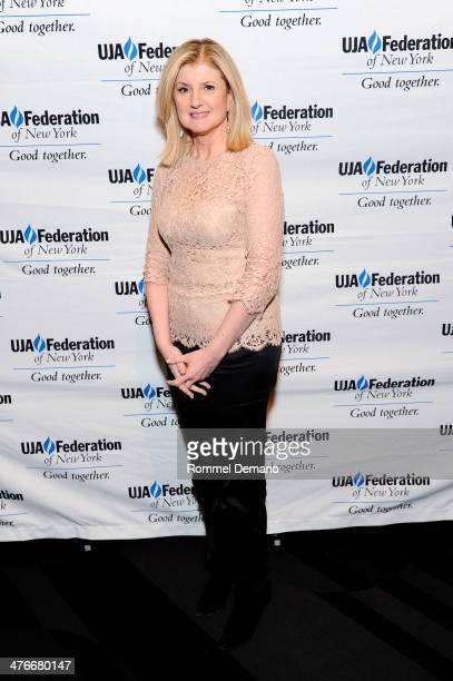 Arianna Huffington attends the UJAFederation's 2014 Digital Media Award Celebration at The Edison Ballroom on March 4 2014 in New York City