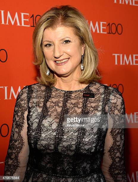 Arianna Huffington attends TIME 100 Gala TIME's 100 Most Influential People In The World at Jazz at Lincoln Center on April 21 2015 in New York City