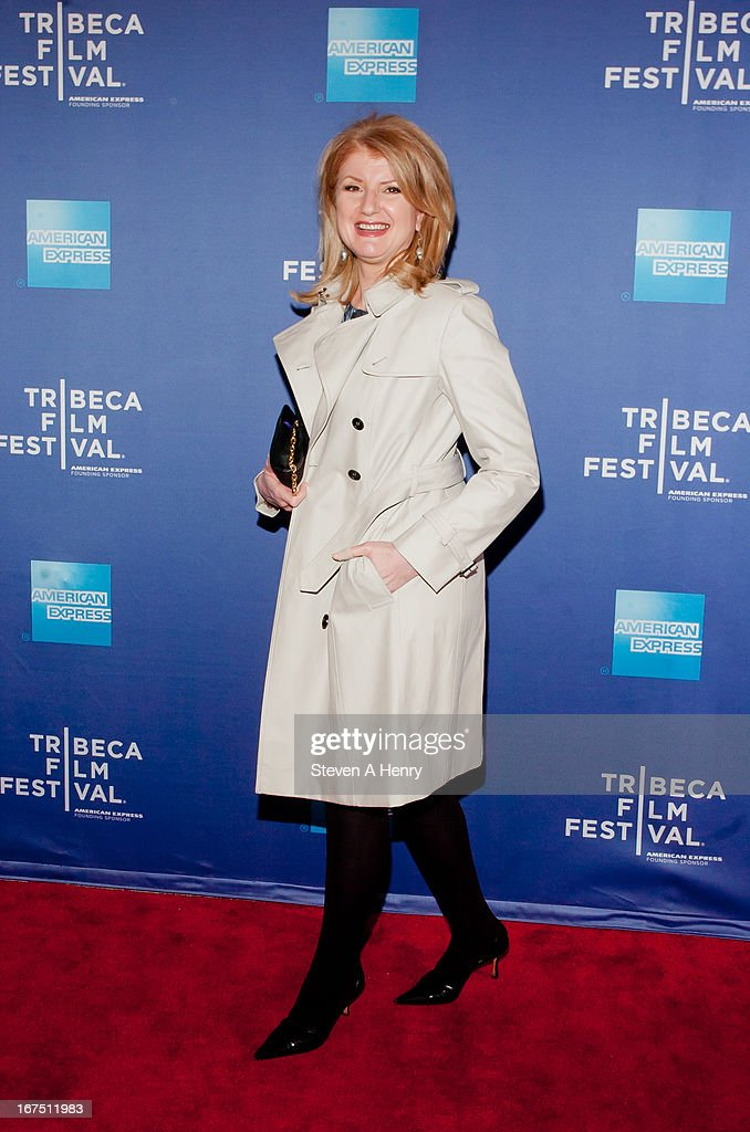 Arianna Huffington attends Tribeca Talks: After the Movie 'How to Make Money Selling Drugs' during the 2013 Tribeca Film Festival at SVA Theater on April 25, 2013 in New York City.