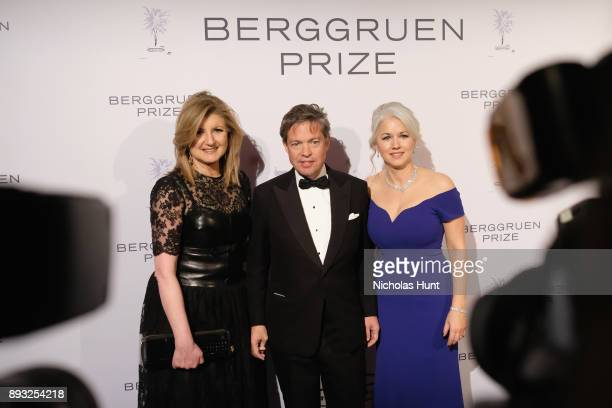 Arianna Huffington Chairman of the Berggruen Institute Nicolas Berggruen and Dawn Nakagawa attend the Berggruen Prize Gala at the New York Public...