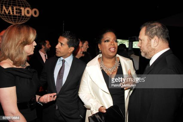 Arianna Huffington Dr Sanjay Gupta Oprah Winfrey and Harvey Weinstein attend TIME MAGAZINE'S 100 MOST INFLUENTIAL PEOPLE 2009 at Jazz At Lincoln...