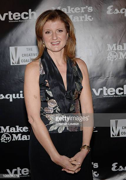 Arianna Huffington during The Creative Coalition's 2005 Spotlight Awards Gala at Esquire Downtown at Astor Place in New York City New York United...