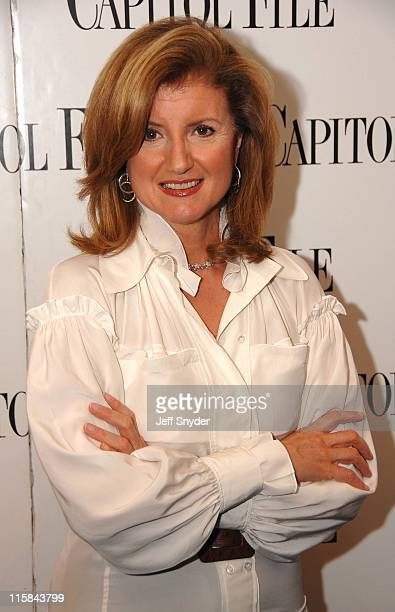 Arianna Huffington during 'The US vs John Lennon' Premiere Hosted by Arianna Huffington at The National Press Club in Washington DC United States