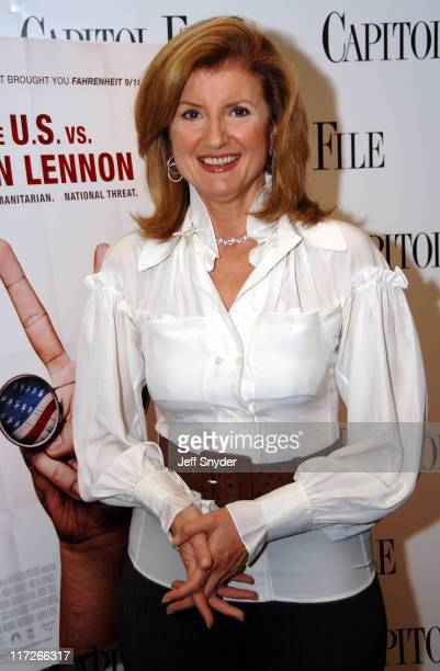 Arianna Huffington during The US vs John Lennon Premiere Hosted by Arianna Huffington at The National Press Club in Washington DC United States