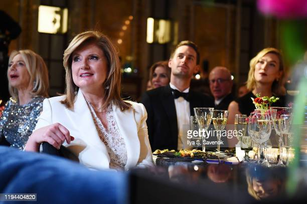 Arianna Huffington Evan Spiegel and Karlie Kloss attend the Fourth Annual Berggruen Prize Gala celebrating 2019 Laureate Supreme Court Justice Ruth...