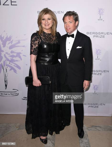 Arianna Huffington Founder of the Huffington Post and Nicolas Berggruen attend the 2017 Berggruen Prize Gala at the New York Public Library on...