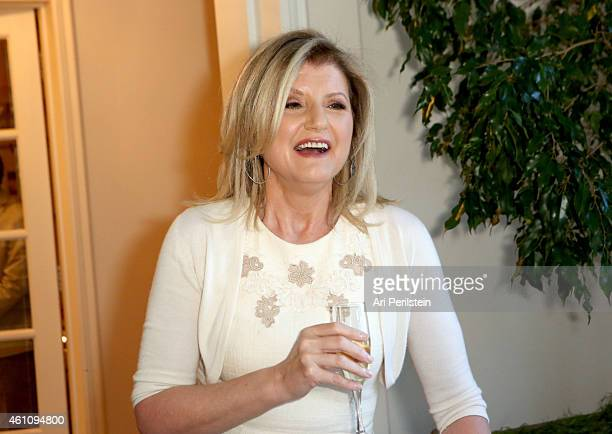 Arianna Huffington hosts a special lunch at home for Jennifer Aniston to celebrate CAKE on January 6 2015 in Los Angeles California