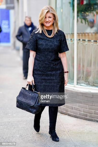 Arianna Huffington is seen in Midtown on December 11 2017 in New York City