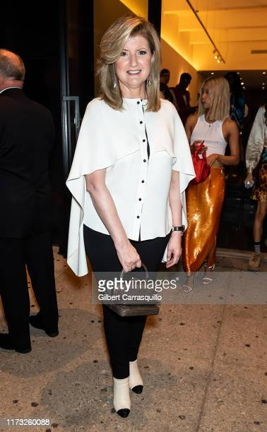 Arianna Huffington is seen leaving Prabal Gurung Fashion Show during New York Fashion Week The Shows at Gallery I at Spring Studios on September 08...