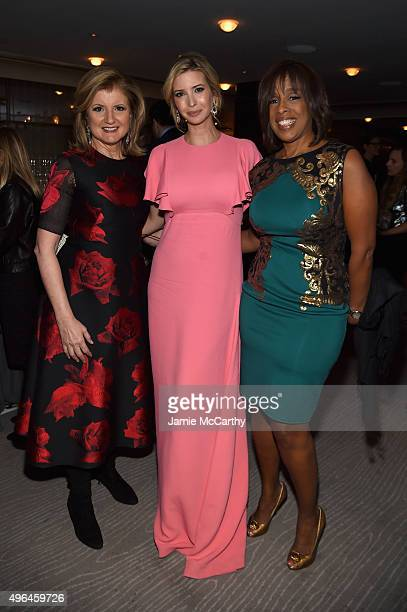 Arianna Huffington Ivanka Trump and Gayle King attend the 2015 Glamour Women of The Year Awards dinner hosted by Cindi Leive at The Rainbow Room on...