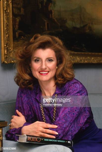 Arianna Huffington poses for a photograph April 27 1988 in New York City