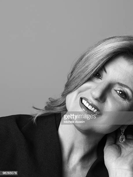 Arianna Huffington poses for a portrait session on December 2 New York NY