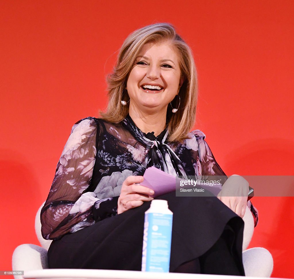 Arianna Huffington speaks onstage during the THRIVE with Arianna Huffington panel at The Town Hall during 2016 Advertising Week New York on September 28, 2016 in New York City.