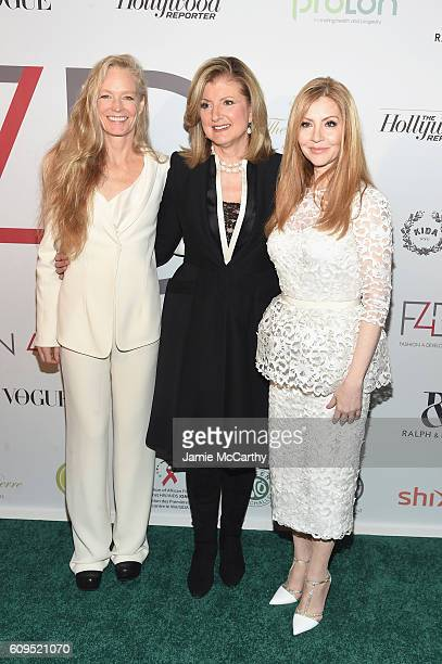 Arianna Huffington Suzy Amis Cameron and Evie Evangelou attend the Fashion 4 Development's 6th Annual Official First Ladies Luncheon on September 21...