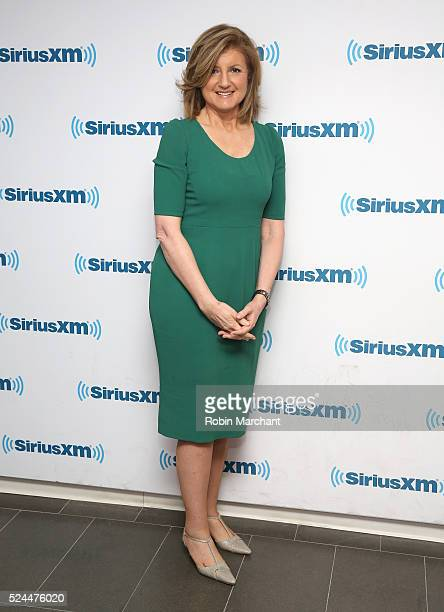 Arianna Huffington visits at SiriusXM Studio on April 26 2016 in New York City