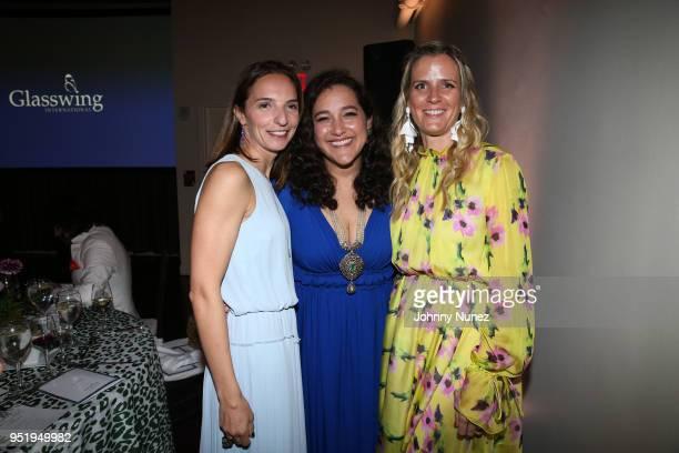 Arianna Kirban Glasswing International coFounder Celina de Sola and Lindsey Boyd attend the 2018 Glasswing International Gala at Tribeca Rooftop on...