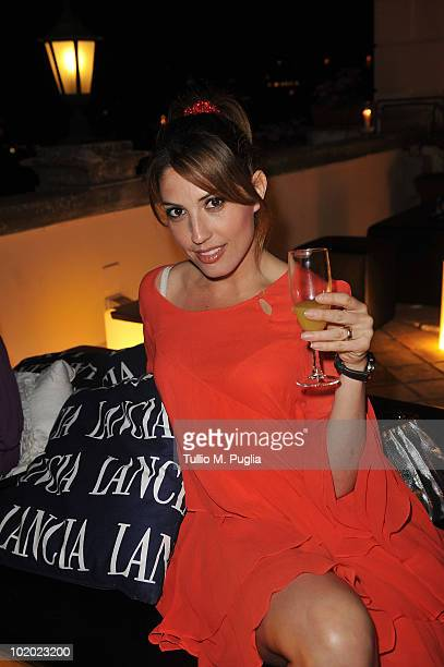 Arianna Martina Bergamaschi attends a party at Lancia Cafe during the Taormina Film Fest on June 12 2010 in Taormina Italy