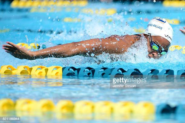 Arianna VanderpoolWallace competes in the Women 100 LC Meter Butterfly prelims at Skyline Aquatic Center on April 14 2016 in Mesa Arizona