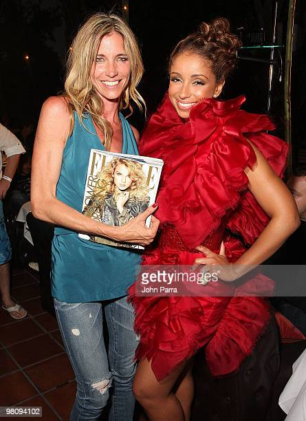 Arianne Brown and Mya attend the closing party for Rock Media Fashion Week Miami Beach at Vita Restaurant Lounge on March 27 2010 in Miami Beach...