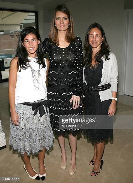 Arianne Gold Plum Sykes and Gretchen Gunlocke during Chanel Hosts Party for Plum Sykes's New Book 'The Debutante Divorcee' at Chanel in Beverly Hills...