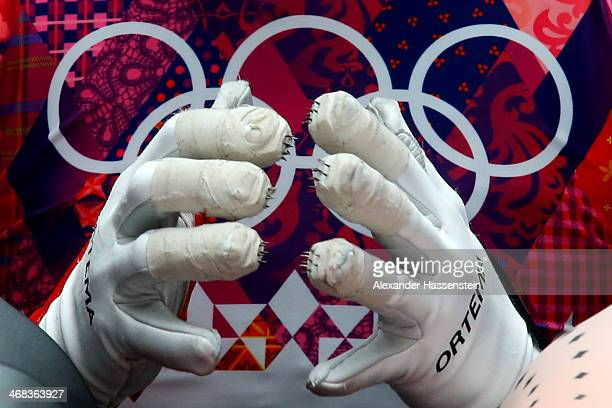 Arianne Jones of Canada prepares for her first run during the Women's Luge Singles on Day 3 of the Sochi 2014 Winter Olympics at Sliding Center Sanki...