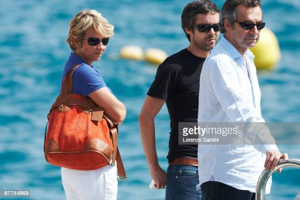 Arianne Massenet and Yann Barthes leave the Hotel du Cap Eden Roc of Cap d'Antibes on May 18 2009 in Cannes France