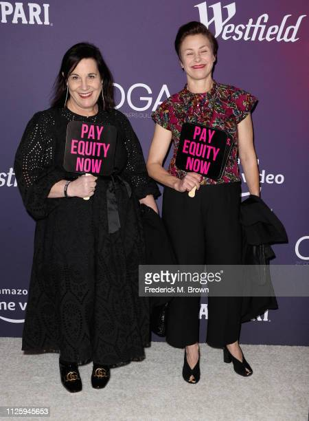 Arianne Phillips and Nancy Steiner attend The 21st CDGA at The Beverly Hilton Hotel on February 19 2019 in Beverly Hills California