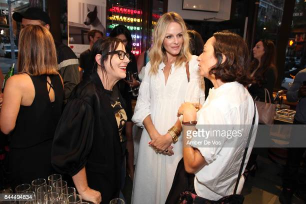 Arianne Phillips Monet Mazur and Sophie De Rakoff attends Bookmarc celebrates Be Cool Be Nice at BookMarc on September 8 2017 in New York City