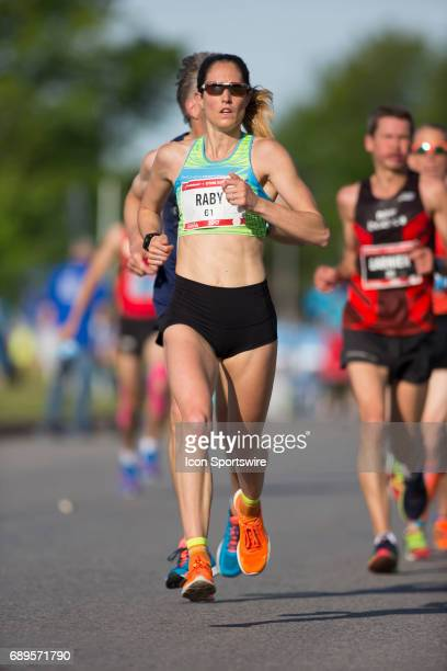 Arianne Raby of Canada running in the Ottawa Marathon road race during the Tamarack Ottawa Race Weekend The Ottawa Marathon is part of the...
