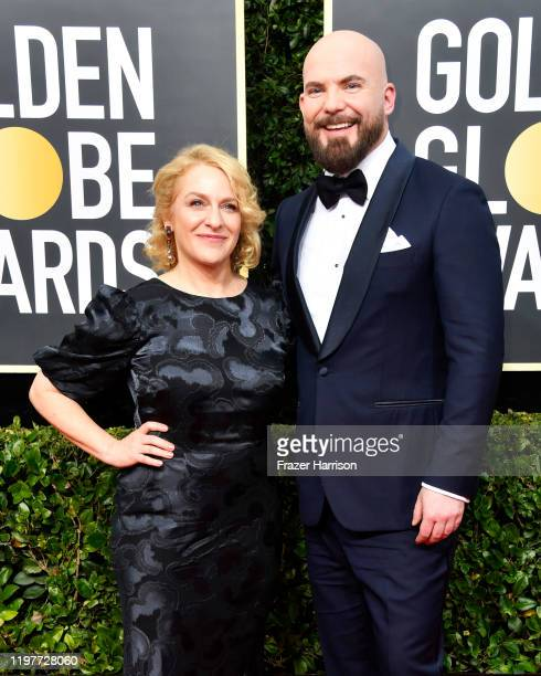Arianne Sutner and Chris Butler attend the 77th Annual Golden Globe Awards at The Beverly Hilton Hotel on January 05 2020 in Beverly Hills California