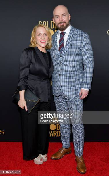 Arianne Sutner and Chris Butler attend the HFPA and THR Golden Globe Ambassador Party at Catch LA on November 14 2019 in West Hollywood California