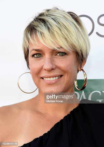 Arianne Zucker arrives at the Festival of Arts Celebrity Benefit Event on August 25 2018 in Laguna Beach California