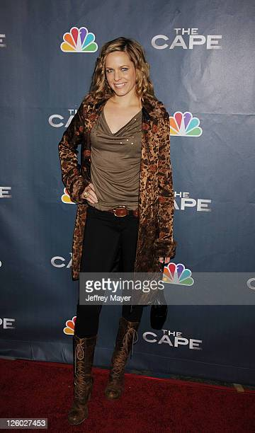 Arianne Zucker arrives for NBC's 'The Cape' premiere party at The Music Box @ Fonda on January 4 2011 in Hollywood California