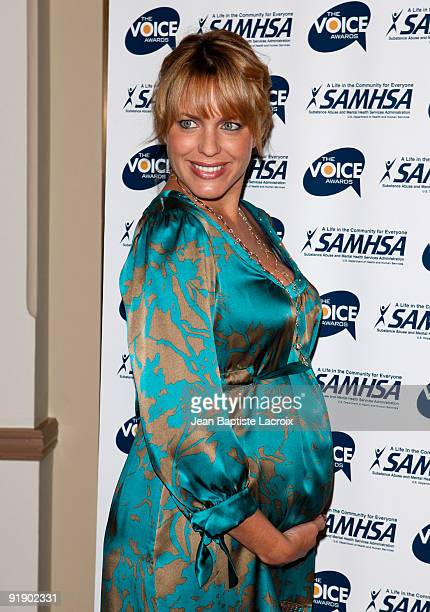 Arianne Zucker attends the 2009 Voice Awards at Paramount Theater on the Paramount Studios lot on October 14 2009 in Los Angeles California