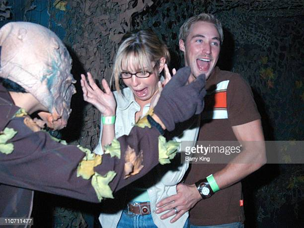 Arianne Zuker and Kyle Lowder during Days Of Our Lives Stars Visit Knott's Berry Farms Halloween Haunt at Knott's Berry Farm in Buena Park California...