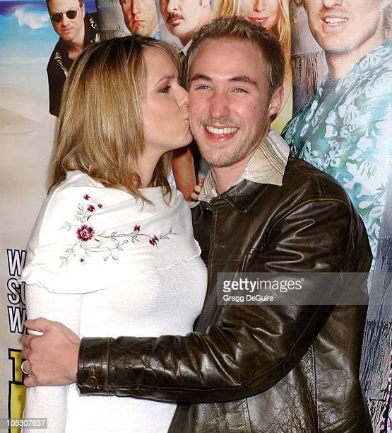 Arianne Zuker and Kyle Lowder during 'The Big Bounce' Premiere at Mann Village Theatre in Westwood California United States