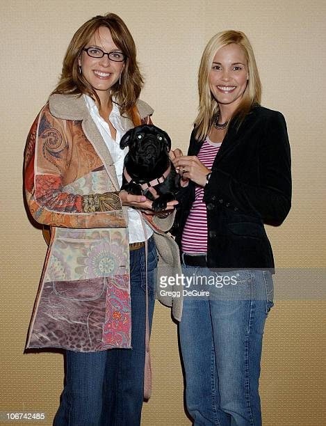 Arianne Zuker and Leslie Bibb during The Jeep Yappy Hour and Febreze Pet Fashion Show sponsored by GW Little - Arrivals at Century Plaza Hotel in...