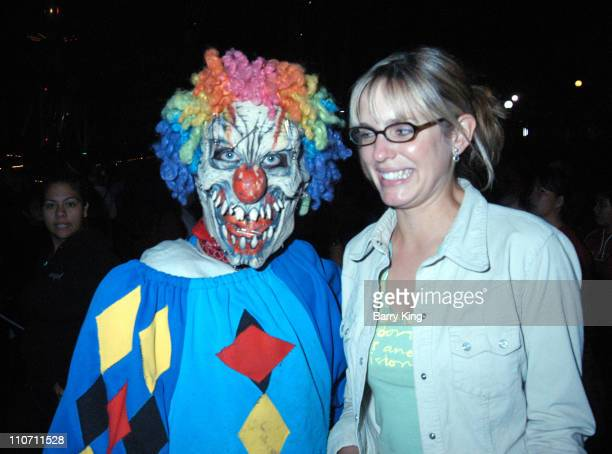 Arianne Zuker in Carnivorous Clown Maze during Days Of Our Lives Stars Visit Knott's Berry Farms Halloween Haunt at Knott's Berry Farm in Buena Park...