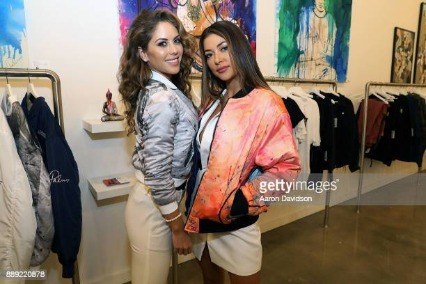 Arianny Celeste and Brittney Palmer attend Brittney Palmer's 'No Agency' Art Show Shop At Art Basel Miami 2017 on December 9 2017 in Miami Florida