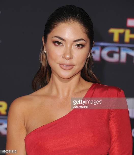 Arianny Celeste arrives at the Los Angeles Premiere 'Thor Ragnarok' on October 10 2017 in Hollywood California