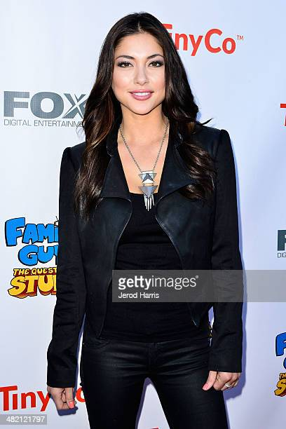 Arianny Celeste attends the Launch Party for the 'Family Guy' Game at the Happy Ending Bar Restaurant on April 2 2014 in Hollywood California