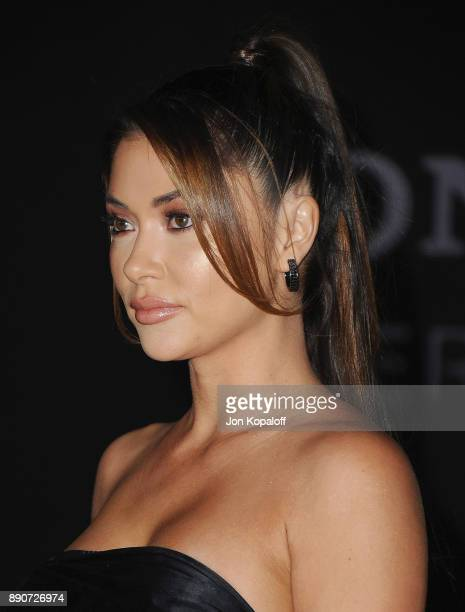 Arianny Celeste attends the Los Angeles Premiere 'Jumanji Welcome To The Jungle' at the TCL Chinese Theatre on December 11 2017 in Hollywood...