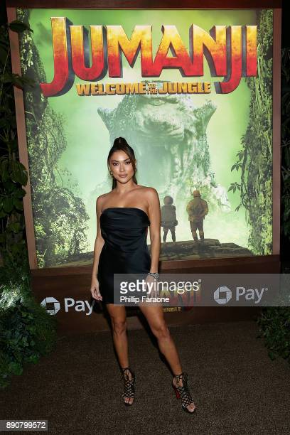 """Arianny Celeste attends the premiere of Columbia Pictures' """"Jumanji: Welcome To The Jungle"""" on December 11, 2017 in Hollywood, California."""